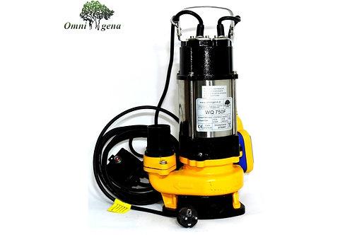 WQ-750F фекальный насос 750Вт, Hmax 10м, Qmax 300л/м