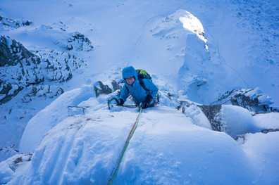 Swapping rock shoes for crampons and ice axes!