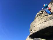 Sunny days teaching lead climbing