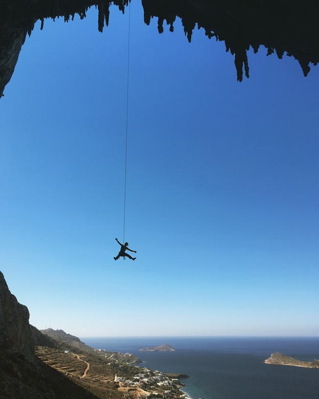 Sport climbing in Kalymnos