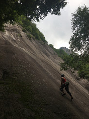 Run out granite slabs in Val di Mello, Italy