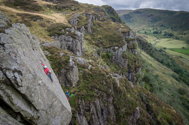 One Step Beyond E4, Gouther Crag, Lake District