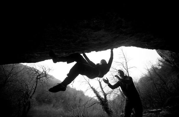Bouldering at Raven Tor, Peak District