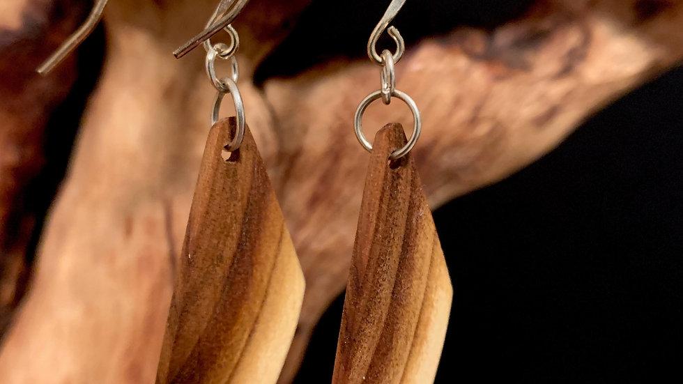 Russian Olive wooden Earrings