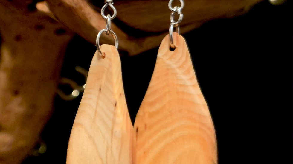 Pine Wooden Pear Shapes