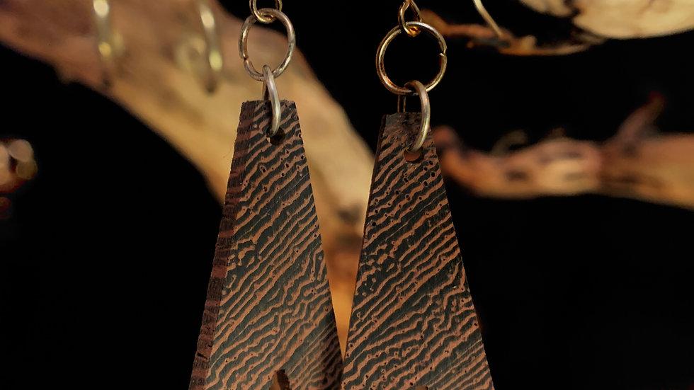 Endangered Wenge Wooden Earrings