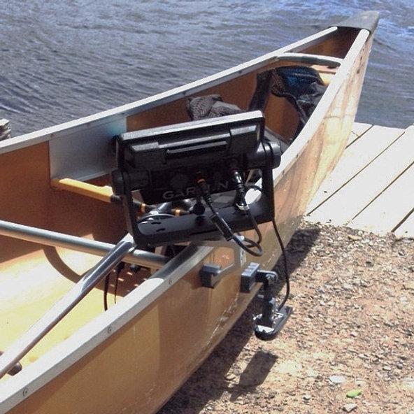 Fish finder mounts com for Kayak fish finder install