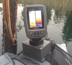 Garmin Echo 301c on ODC float tube