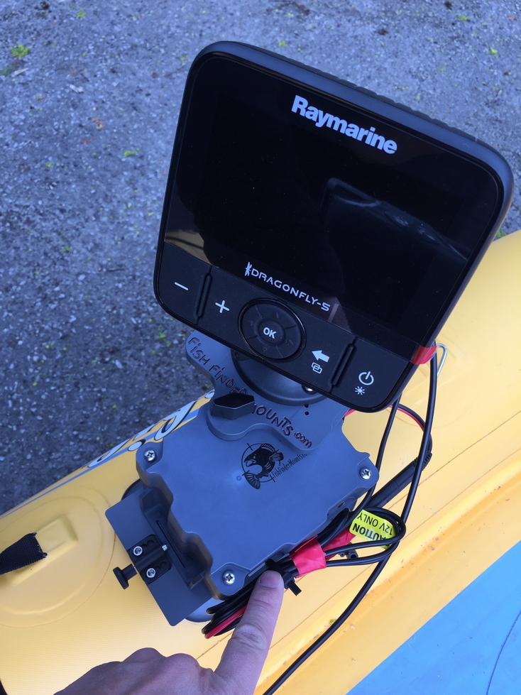 Raymarine Dragonfly on Hobie Mirage