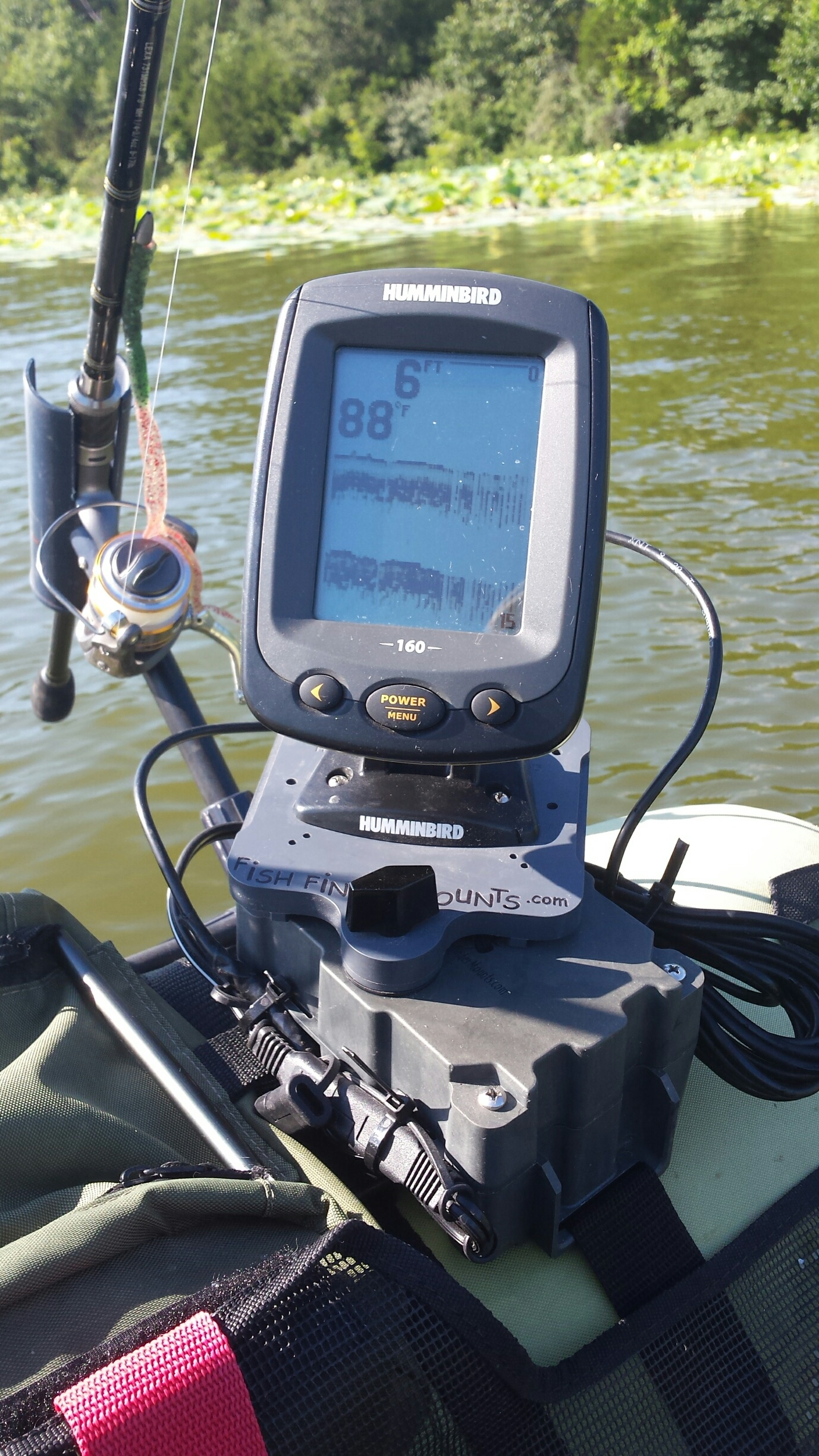 Put a Fish Finder on a float tube