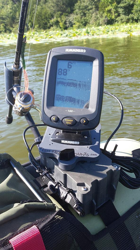 Fish finder mounts com for Float tube fish finder