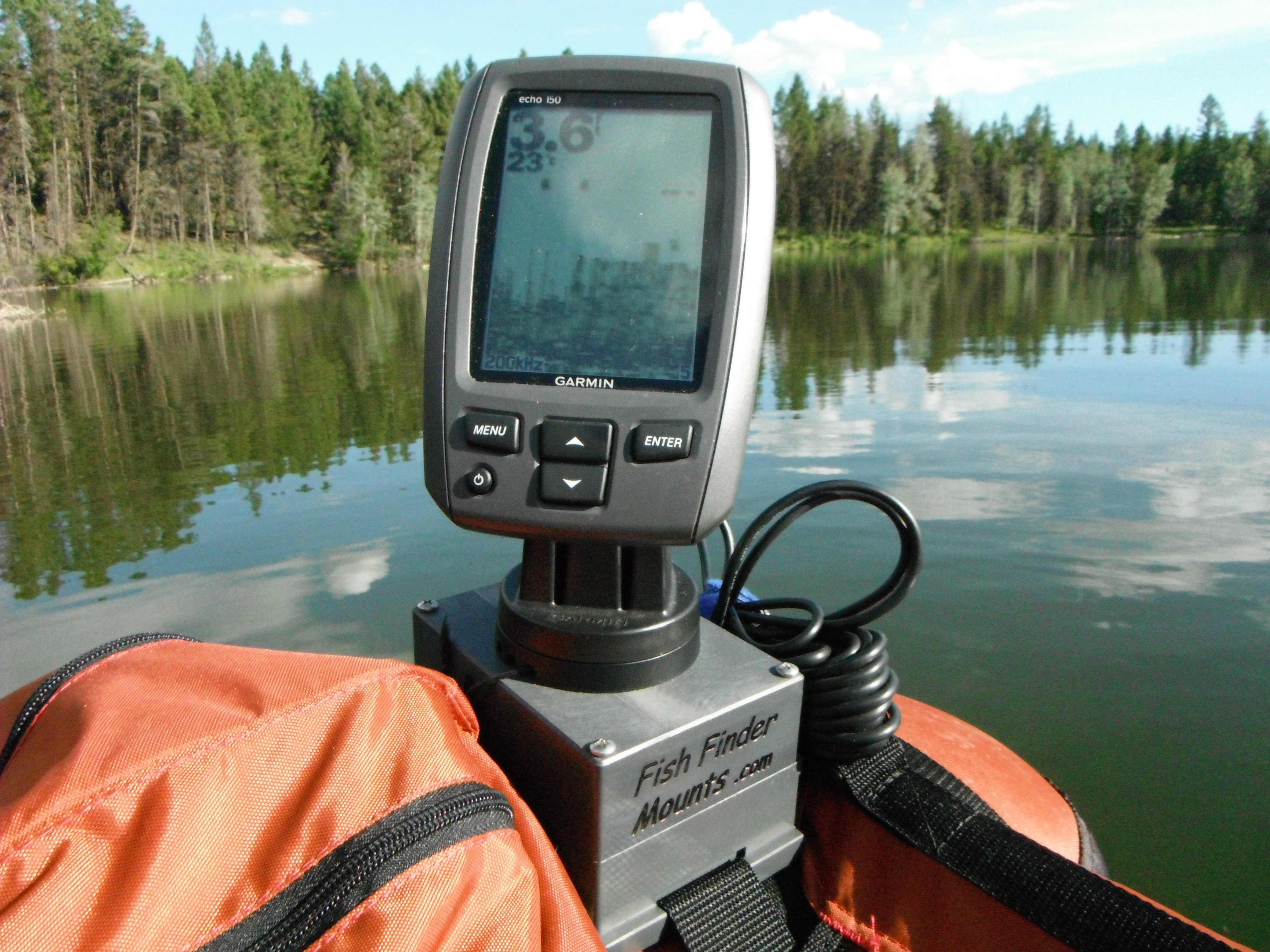 Garmin Echo 150 on Float Tube.JPG