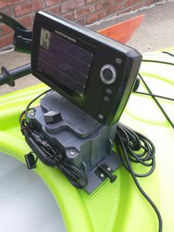 powered kayak fish finder mount