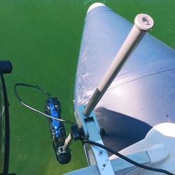 Polearm transducer mount for boats