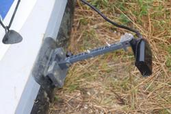 Glue-on transducer mount for kayaks