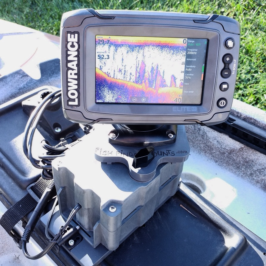 Lowrance Elite 5TI on Kayak