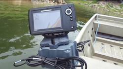 5ah Magnetic Boat Mount on Jon Boat