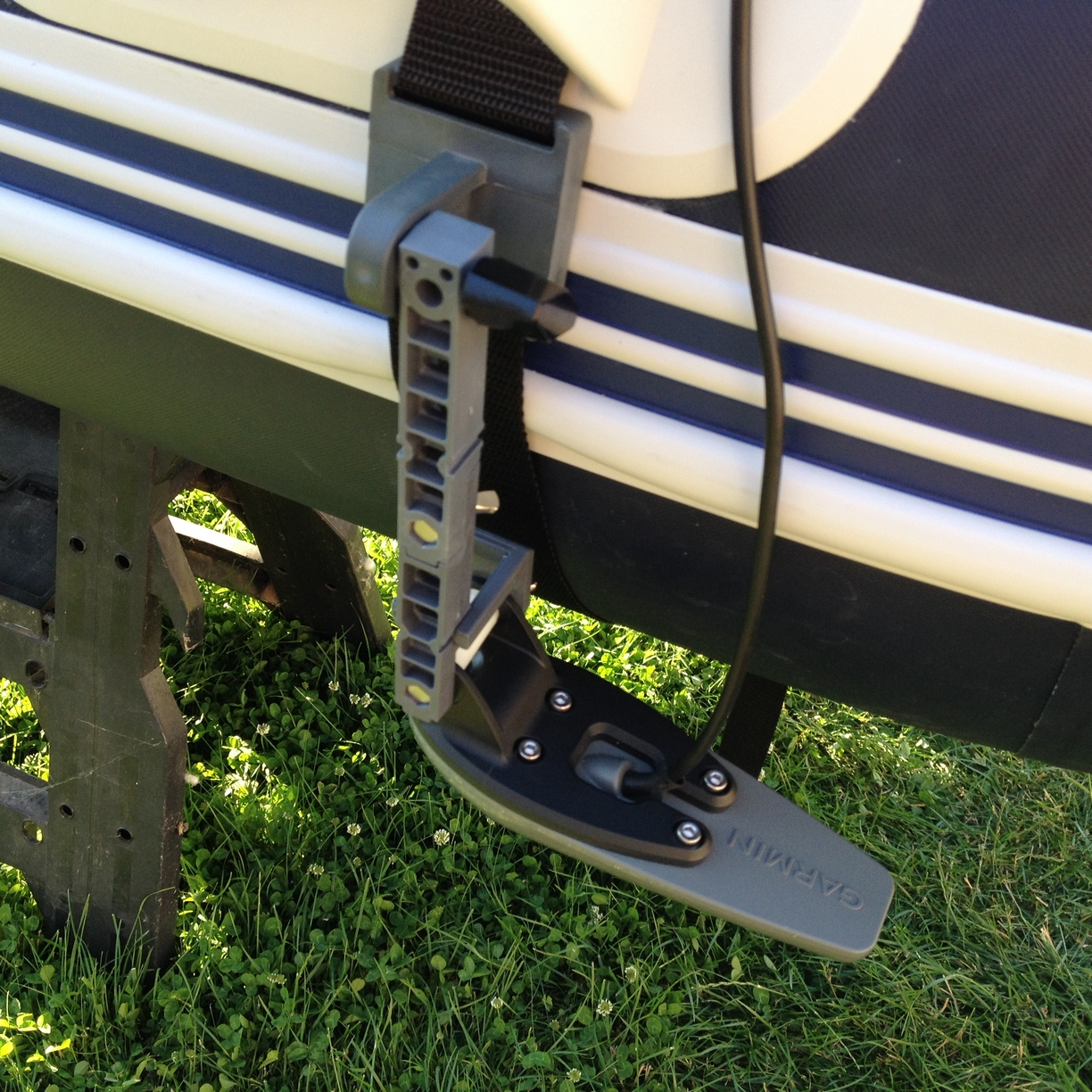Inflatable Boat transducer mount