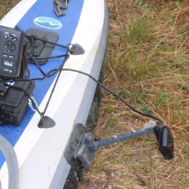 Inflatable kayak Glue-on transducer