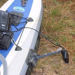 Inflatable kayak Glue-on transducer