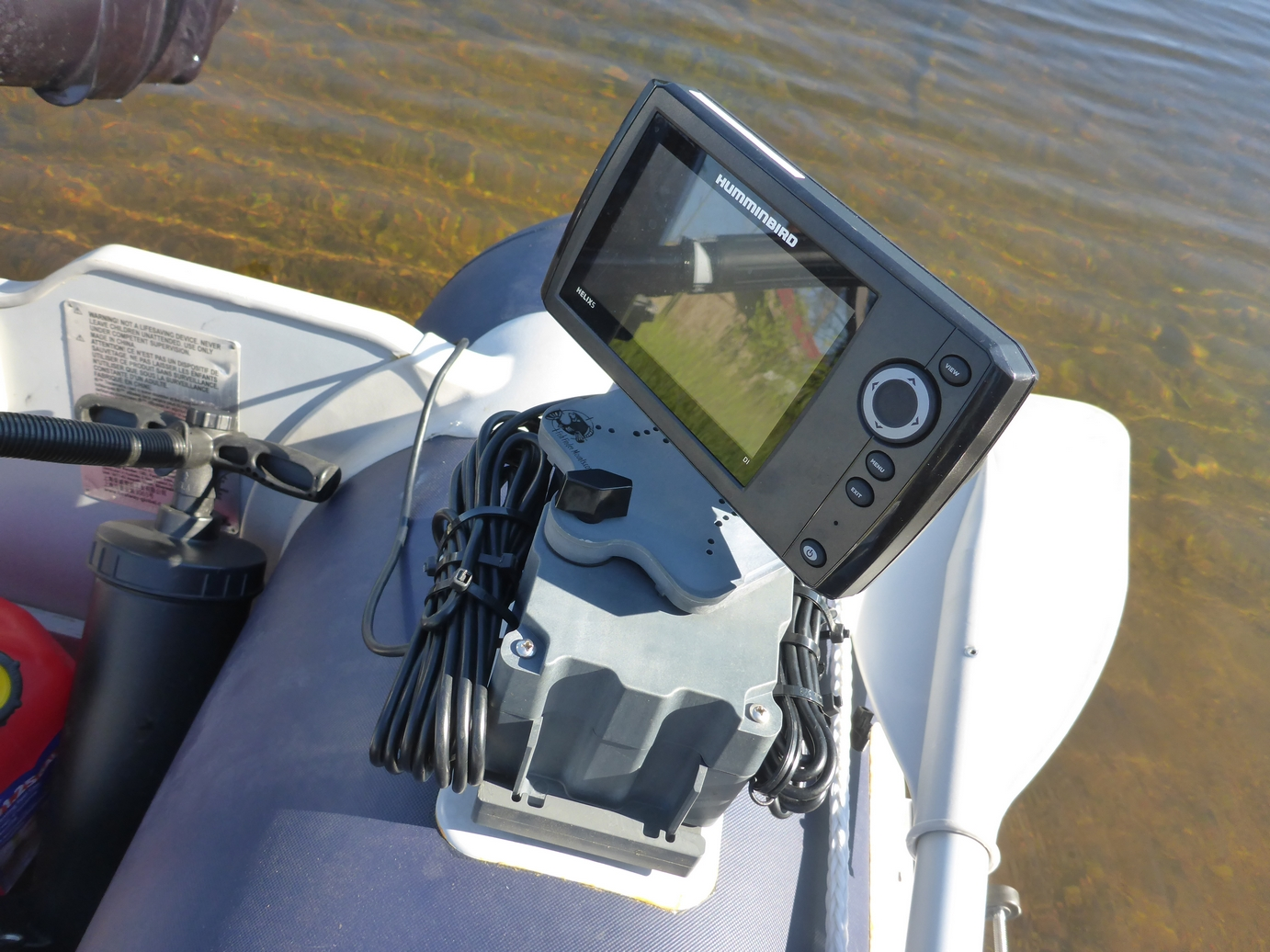 Zodiac Boat Fish Finder Mount