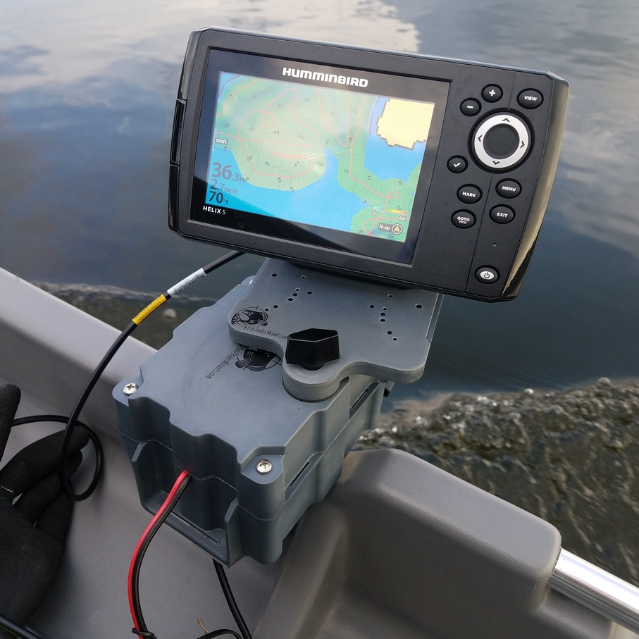 Fish finder mount for Plastic boats