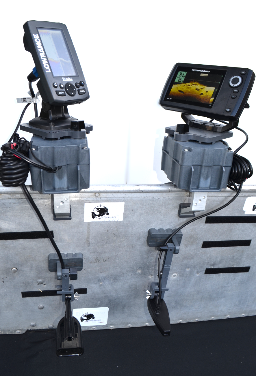 Photos of Fishfinders installed on boats, float tubes