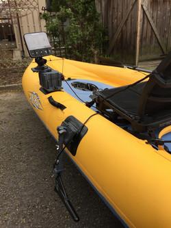 Hobie Mirage kayak fish finder mount