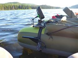 float tube fish finder mounting kit