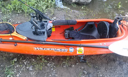 Fish Finder set up for sit-in kayak