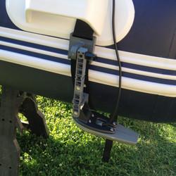 strap-on transducer mount for zodiac