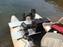 Sea Eagle Fold Cat fishfinder set-up