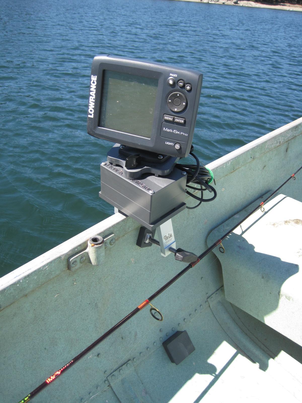 Photos of Fishfinders installed on boats, float tubes, kayaks, etc