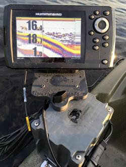 kayak fish finder mounting solution