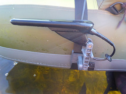 Transducer mount for your belly boat