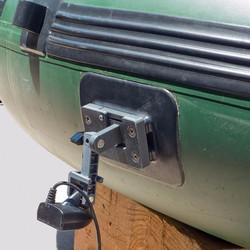 Glue-on transducer mount