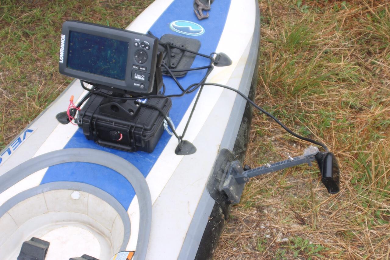 Fish finder mounts com inflatable kayak transducer mount for Fish finder for kayak