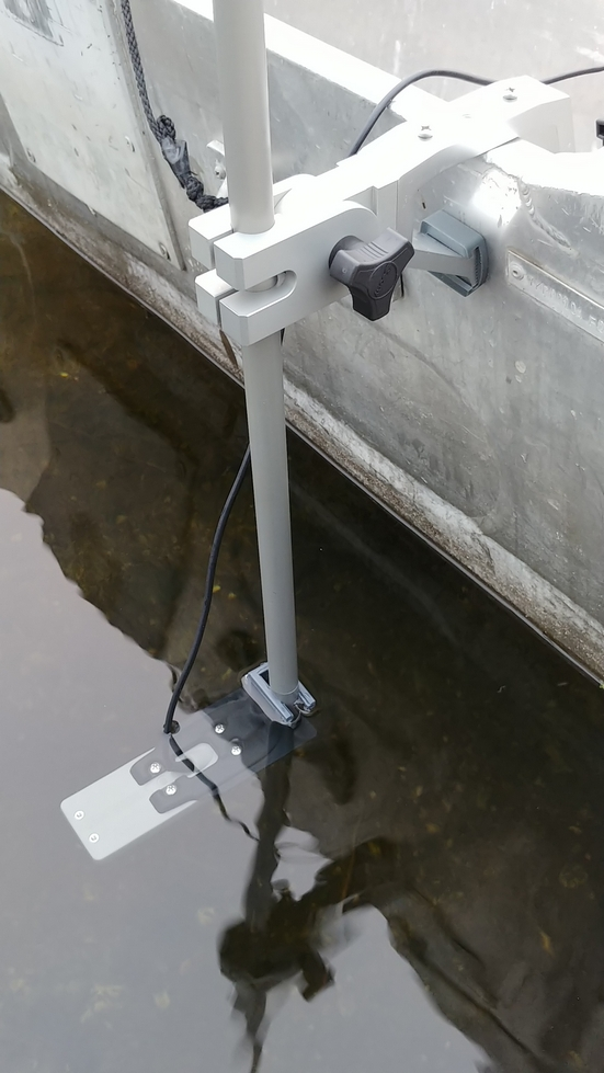portable transducer mount jon boats