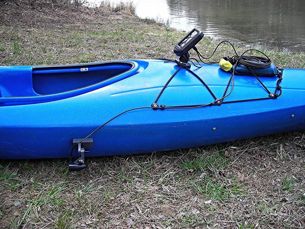 sit-inside kayak with fishfinder