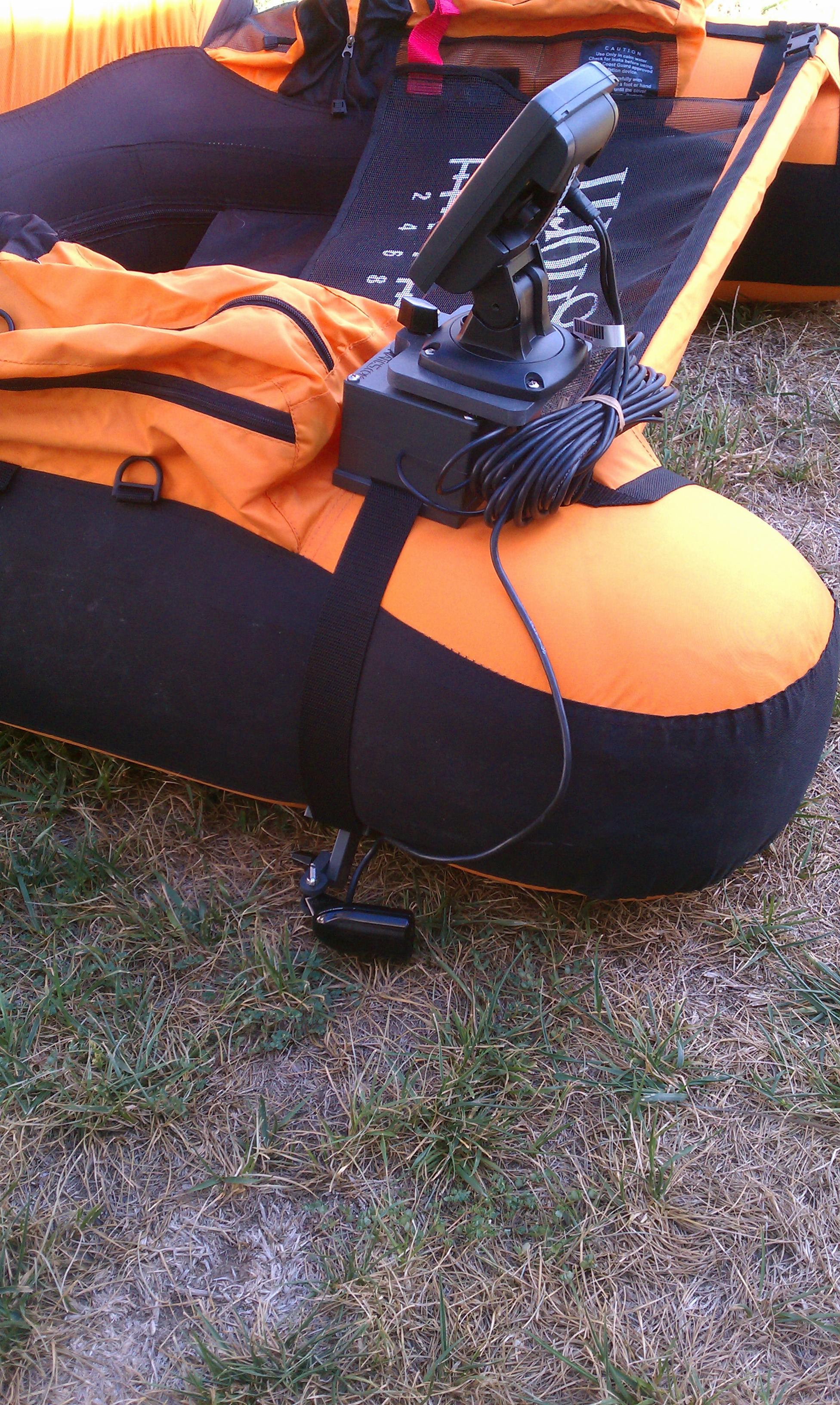 Put a depth sounder on a float tube