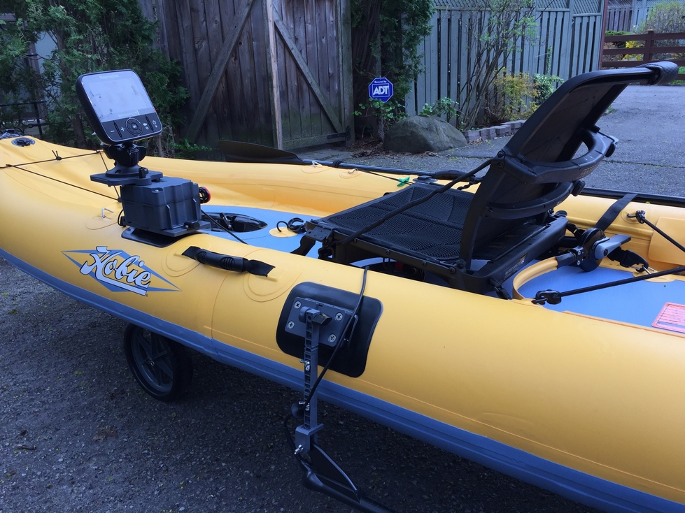 Hobie Inflatable Kayak fish finder