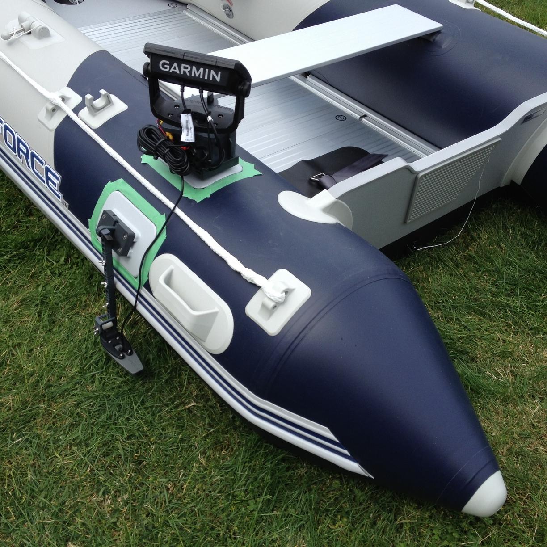 Glue-On fishfinder mount Zodiac boat