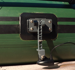transducer mount for inflatable boat