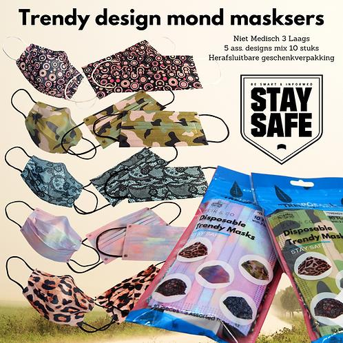 4 Sets Trendy maskers