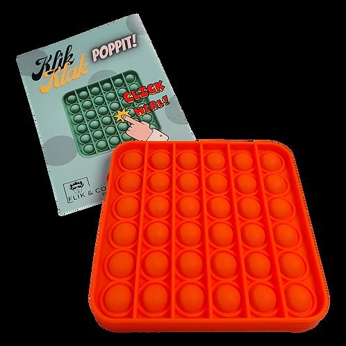 Poppit Pop Bubbel Fidget Toy - Vierkant Kleur Oranje