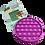 Thumbnail: Poppit Pop Bubbel Fidget Toy - Rond Kleur Paars