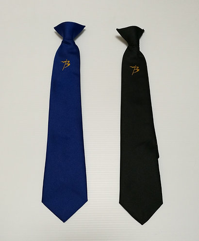 Budmouth School Tie, Blue or Black