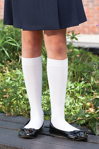 Cotton Rich Knee High Socks 3 Pair Pack