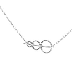 Circles Necklace Side Angle_SilverJewell