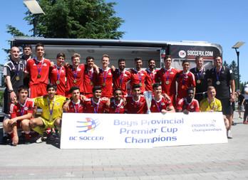 BC Soccer Provincial Premier Cup Finals Results